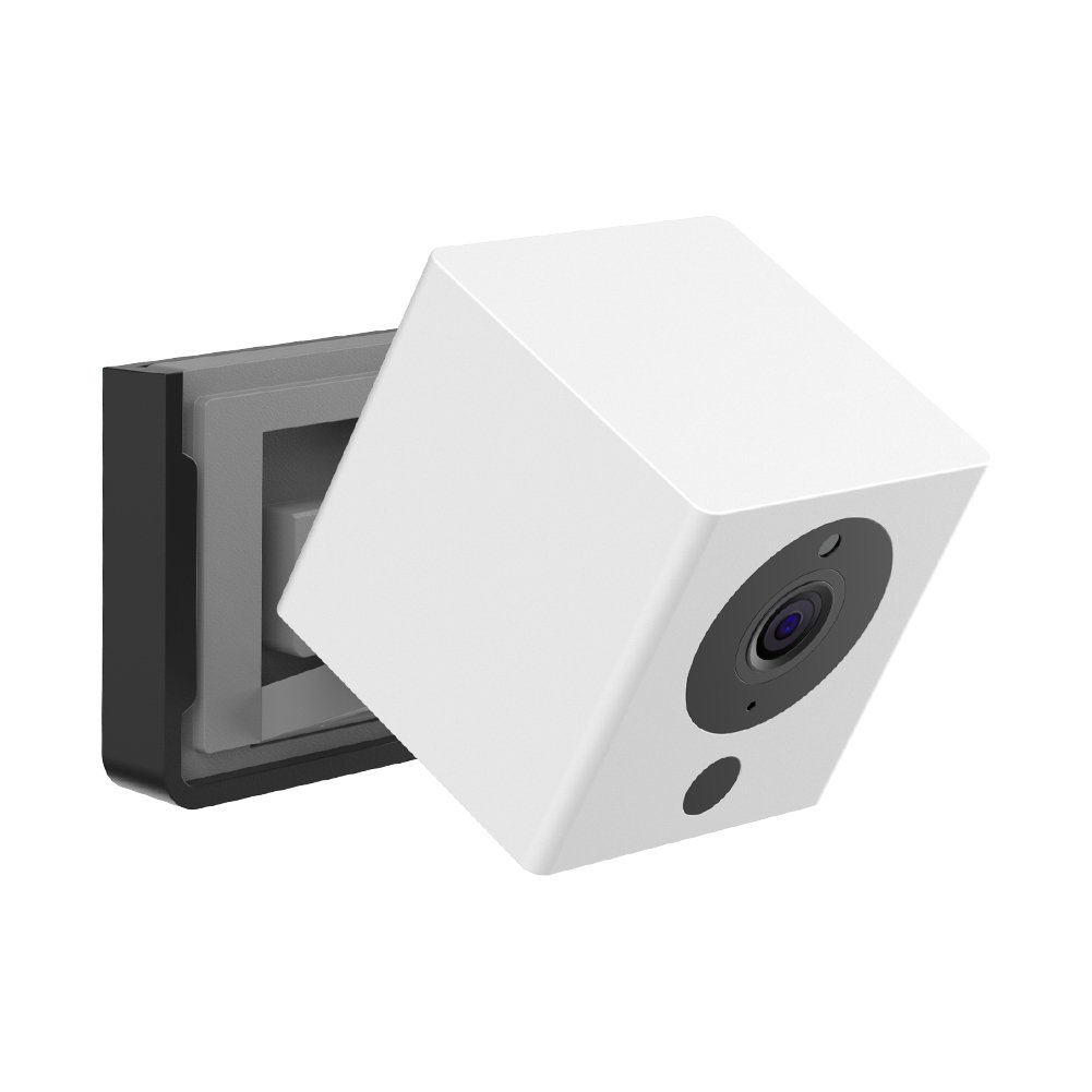 becrowmus Wyzeカメラ壁マウントブラケット、天気プルーフ360度保護調節可能なインドアとアウトドアマウントカバーケースfor wyzecam 1080pスマートスポットカメラanti-sunグレアUV保護 Cover-HNUS-HS0163-B B07FLZFJQJ Black-Base