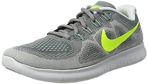 Nike Free RN 2017 sz 10.5 Cool Grey/Volt/Wolf Grey/Ghost Green Men's Running Shoes (Nike 5 0 Men Green)