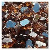 Blue Ridge Brand&Trade; Copper Reflective Fire Glass - 20-Pound Professional Grade Fire Pit Glass - 1/2'' Reflective Glass Fire Pit Landscaping