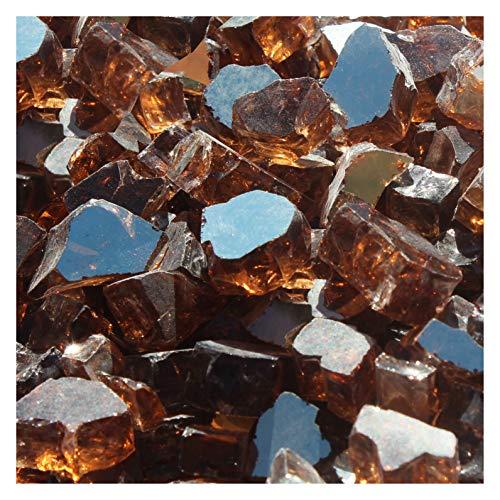 Blue Ridge Brand&Trade; Copper Reflective Fire Glass - 50-Pound Professional Grade Fire Pit Glass - 1/2