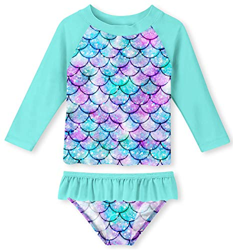 UNIFACO Toddler Girls Tankini 3D Fish Scale Stylish