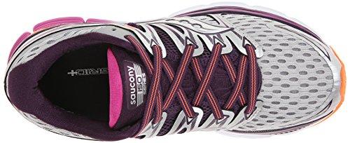 Pictures of Saucony Women's Triumph ISO Running Shoe Silver/Purple/Orange 2