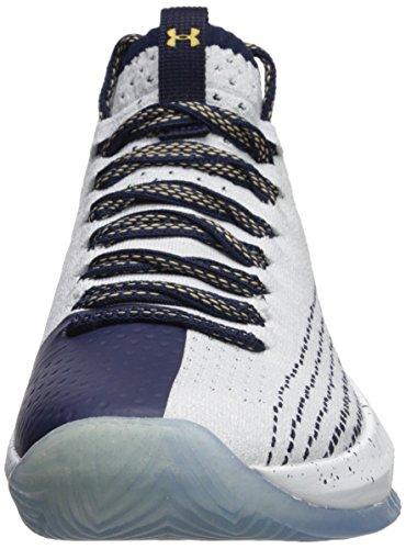 Ua Seeker Heat Chaussures Basketball Under Navy Homme White Armour Gold Metallic Midnight De 5BYWnBRx