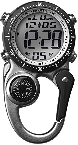 (Dakota Clip Watch With Digital Movement with Stopwatch and Alarm,)