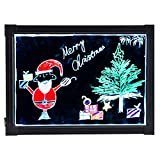 """CO-Z 16"""" X 12"""" Illuminated LED Message Writing Board Erasable Flashing with Multiple Colors and Remote Control"""