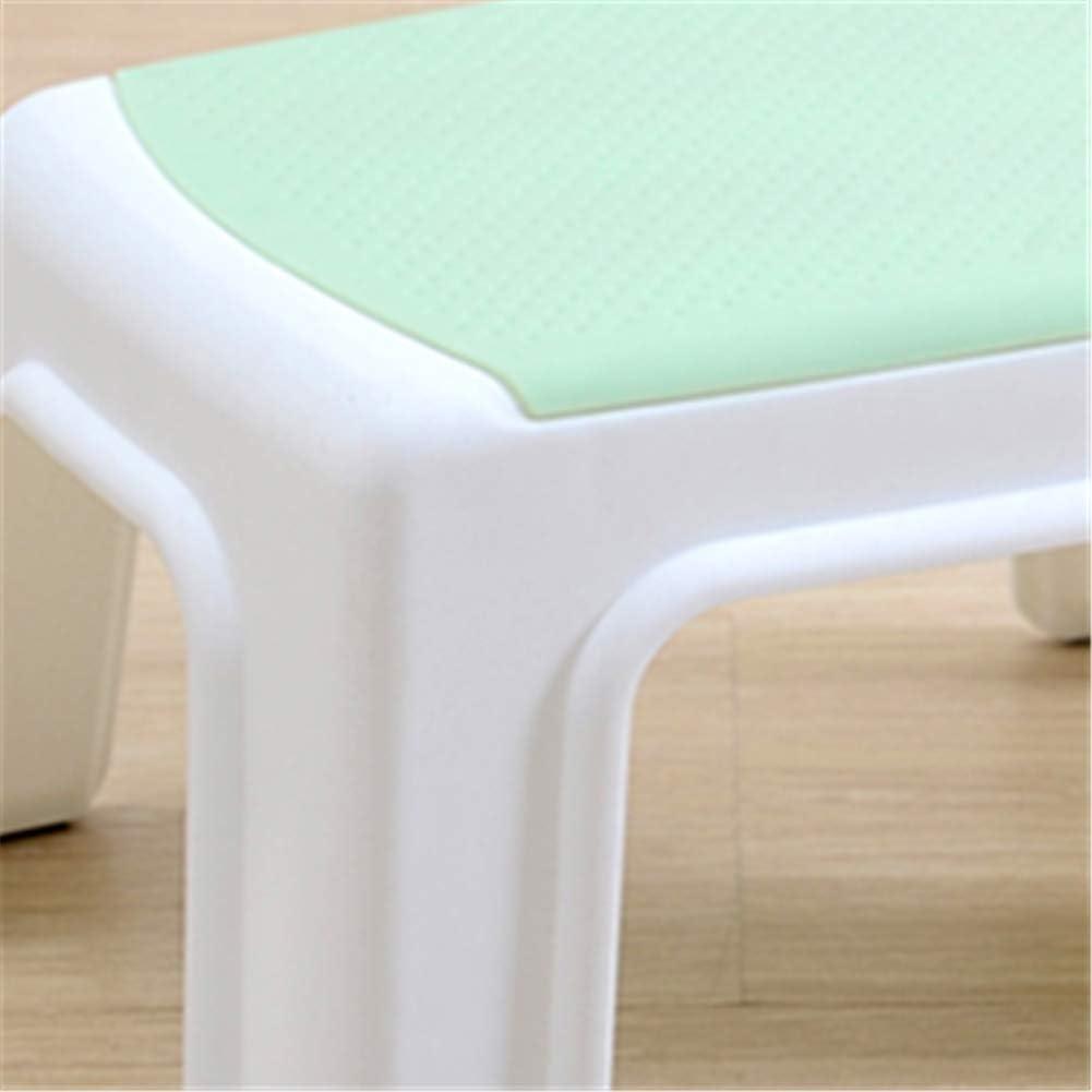 HaoLu Tabouret en Plastique épais de Tabouret empilable carré Simple et Moderne, Chaise pour Enfants, adapté à la Salle de Bains Salon Balcon Chambre,a A
