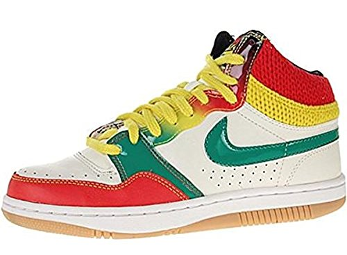 Nike Wife Court Force Hi Sail / Green / Red / Yellow Sneakers Us 11.5