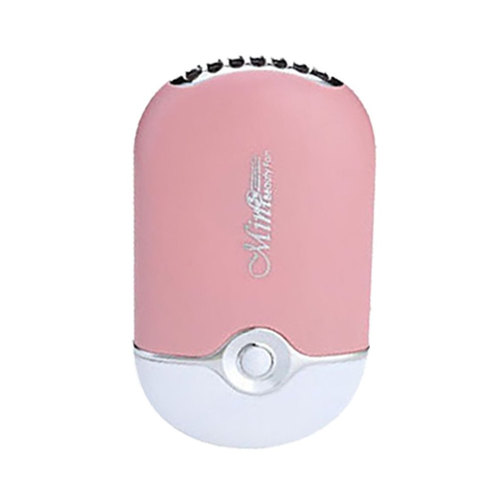 Mexidi USB Mini Fan Portable Eyelashes Dryer Fan Rechargeable Electric Bladeless Handheld Air Conditioning Cooling Blower for Eyelash Extension Glue Dryer (Black)