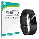 [8-PACK] Fitbit Charge 2 Screen Protector [Military-Grade] RinoGear Premium HD Invisible Clear Shield Anti-Bubble