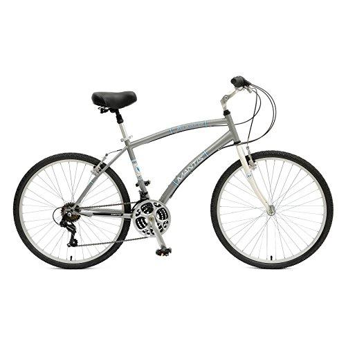 Mantis Premier 726M Comfort Bike, 26 inch Wheels, 18 inch Frame, Men's Bike, Silver