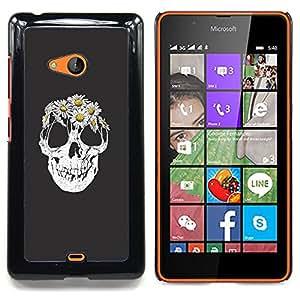 SKCASE Center / Funda Carcasa protectora - Cráneo floral de la flor;;;;;;;; - Nokia Lumia 540