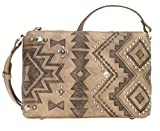 American West Women's Nomad Heart Purse Sand One Size