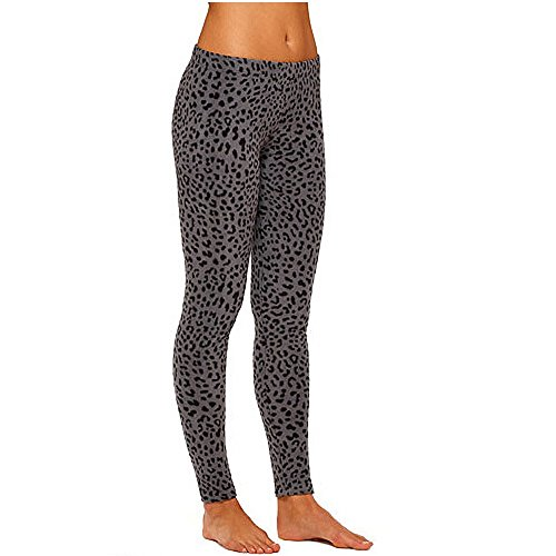 Cuddl Duds ClimateRight Women's Stretch Fleece Warm Underwear Leggings (M, Leopard) -