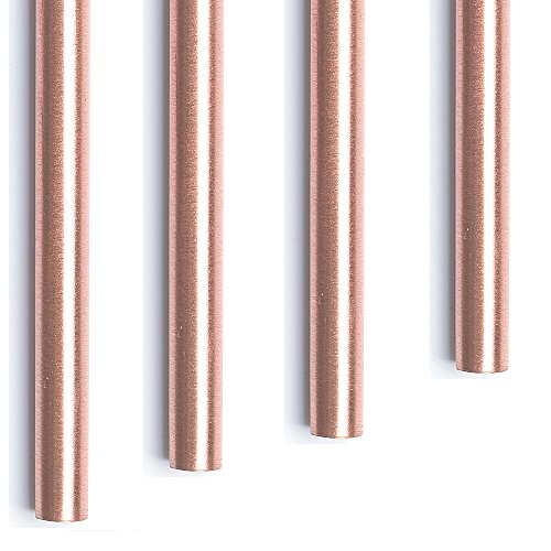 Copper straws - 100% copper drinking straws set of 4 - standard size 6.7' - Best size for your Moscow Mule copper mug - pure premium copper with food safe lacquer to keep the shine. ()