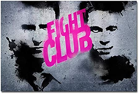 Ysldtty Canvas Painting Fight Club Classic Fighting Movie Film Posters Print Canvas Painting Without Frame 40 60cm Amazon Co Uk Kitchen Home