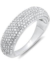 4a067acf99ab02 0.90 Carat (ctw) 10K Gold Round Diamond Anniversary Wedding Band Ring