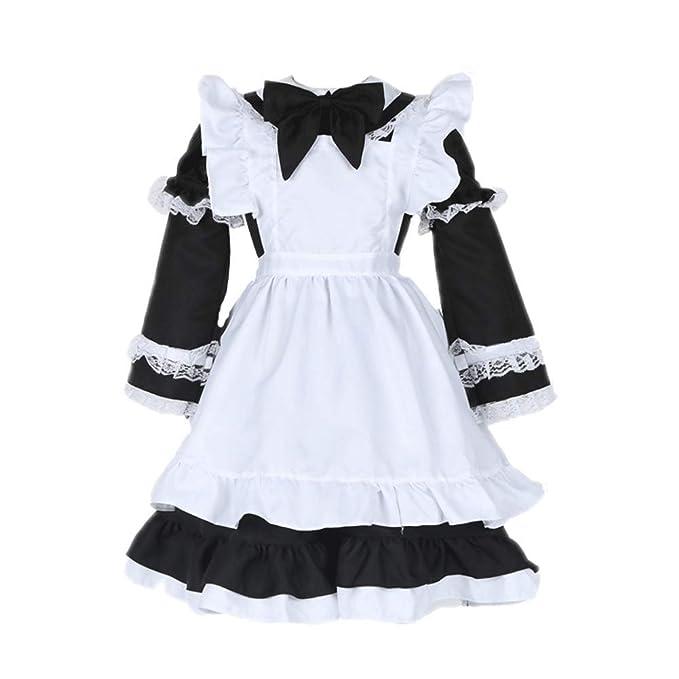 Amazon.com: FairyCos - Disfraz de Lolita Maid con delantal ...