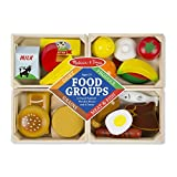 Melissa & Doug Food Groups - 21 Hand-Painted Wooden