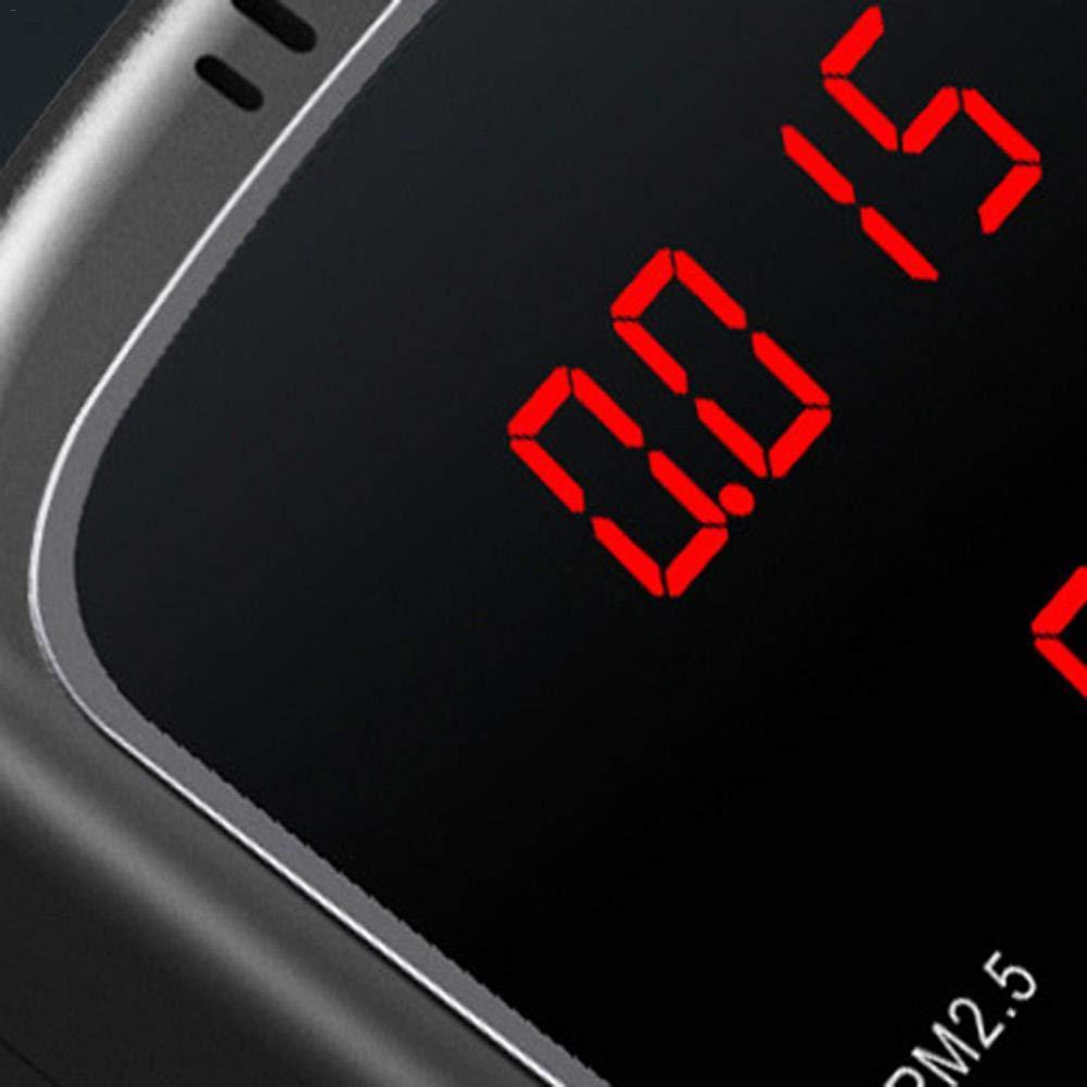 Luftqualit/ät-Messger/ät Formaldehyd PM10 Detektor PM1 PM2.5 TVOC Tester Genaues Testen mit Zeitanzeige f/ür USB-Luftverschmutzungserkennung f/ür Au/ßenautos im Freien HCHO