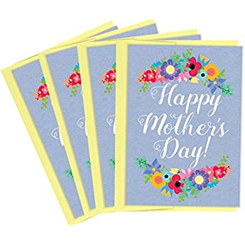 Amazon tiny expressions happy mothers day greeting cards with tiny expressions happy mothers day greeting cards with light yellow envelopes multipack 4 pack m4hsunfo