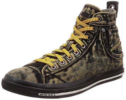 - Diesel Men's Magnete Exposure Stripe Sneaker, Black, 8.5 M US