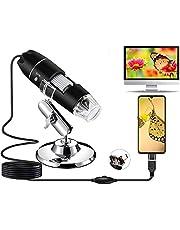 USB digitale microscoop -1080P camera 50 x 1600 x vergroting endoscoop 8 LED-lampjes mini-handmicrofoon met standaard ideaal voor kinderen, studenten compatibel Android OTG-mobiele telefoon, Windows 7, 8, 10, Linux, Mac