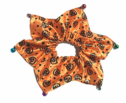 Halloween Pet Holiday Accessories Dog Halloween Collar with Bells, Pumpkin Large Orange