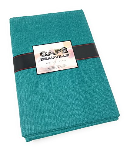 Cafe Deauville Vinyl Tablecloth Teal 60 x 104