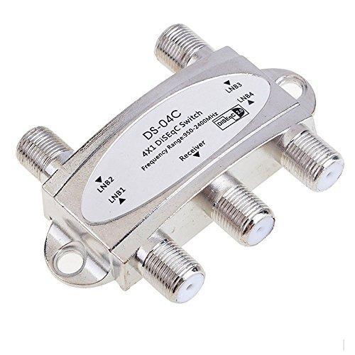 Yonala Wideband 4x1 Satellite Switch DiSEqC V1.0 Receiver Dish LNB