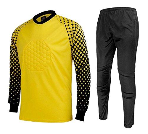 CATERTO Men's Football Goalkeeper Foam Padded Jersey Shir...