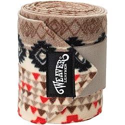 Weaver Leather Polo Leg Wraps, 4-Pack, Crimson Aztec