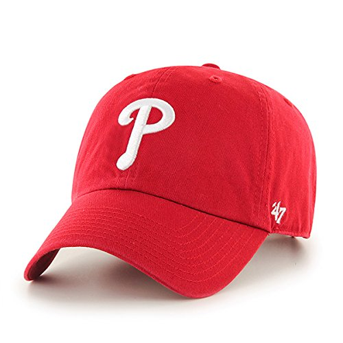 Philadelphia Phillies Red Game (MLB Philadelphia Phillies '47 Clean Up Adjustable Hat, Red, One Size)
