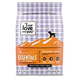 """I and love and you"" Naked Essentials Dry Puppy Food - Natural Grain Free Kibble, Prebiotics & Probiotics, Chicken + Lentils, 4-Pound Bag"