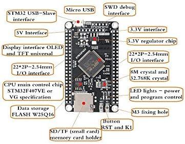 STM32F407VGT6 STM32F407VET6 Entwicklungs-Board F407 Mikrocontroller Lernen Board STM32 Systemplatine Gaodpz ( Size : STM32F407VGT6 )
