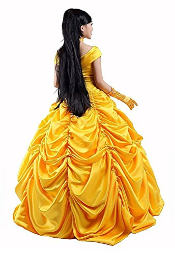 HalloweenCostumeParty Beauty and Beast Belle Costume Dress For Adults Woman (L) by HalloweenCostumeParty (Image #5)