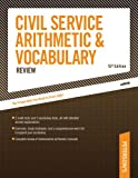 Civil Service Arithmetic and Vocabulary Review, Haller Erdsneker and Arco Publishing Staff, 0768916976