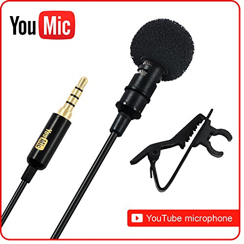 Lavalier Lapel Microphone ­ Omnidirectional Mic with Easy Clip On System ­ Perfect for Recording Youtube / Interview / Video Conference / Podcast / Voice Dictation / iPhone (Vocal Modulator compare prices)