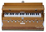 Harmonium by Maharaja Musicals, In USA, 9 Stops, 3 1/2 Octave, Double Reed, Coupler, Natural Color, Standard, Book, Padded Bag, A440 Tuned, Musical Instrument Indian Sangeeta (PDI-ABG)