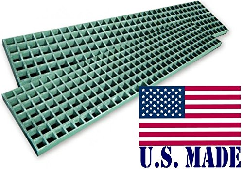 (BILLET4X4 U.S. Made HD Waffle Boards – Fiber Glass 12 inch X 48 inch X 1.5 inch (Pair) (Off-Road Recovery))