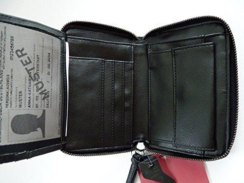 6c128a2722aa03 TCM Tchibo Geldbörse Geldbeutel Portemonnaie Börse schwarz ...