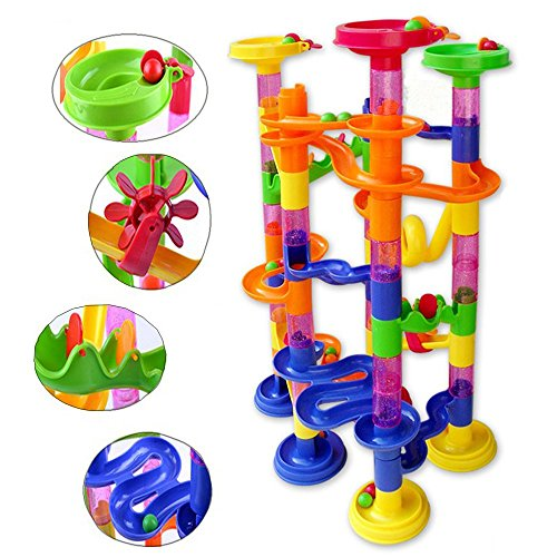 Running Maze Marble Run Maze - 105PCS DIY Construction Marble Race Run Maze Balls Pipeline Type Track Building Blocks Baby Educational Block Toy For Children - Marble Maze Run