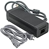 Ortz® Xbox 360 AC Adapter - (FAT) 203W Power Supply - Best Replacement for Charging Xbox360 - Power Brick Style - Great Charger Accessory Kit with Cable Cord - 1 YEAR WARRANTY