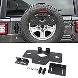 Hgcar Black Aluminum Alloy Spare Tire License Plate Bracket 5pcs for Jeep Wrangler JL 2018