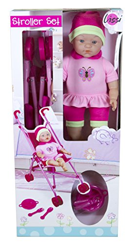 Lissi Doll Umbrella Stroller Set with 16