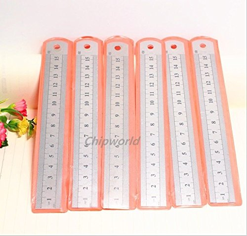 AMAZZANG-1pc Stainless Steel Measuring Ruler Thickened Steel Ruler Drawing Stationery (Stainless Chalet)