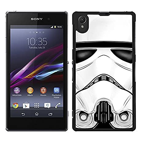Funda carcasa para Sony Xperia Z1 cara soldado SWV borde negro
