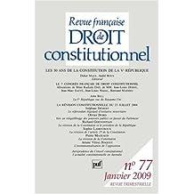 Revue française droit constitutionnel, no 77