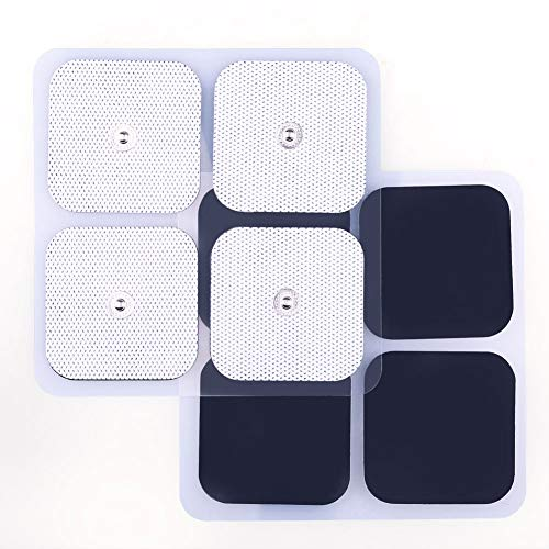 LotFancy TENS Unit Pads, 40PCS 2x2 Snap Electrodes,Reusable Electrotherapy Pads for EMS Muscle Stimulator