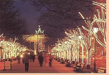 Weihnachtskarten Berlin.Weihnachtskarte Berlin Unter Den Linden Im Weihnachtsschmuck