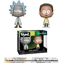Rick & Morty: Funko Vynl. Vinyl Figure Set + 1 American Cartoon Themed Trading Card Bundle